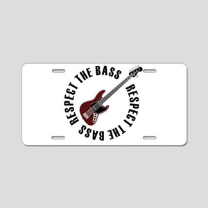 Respect the bass Aluminum License Plate